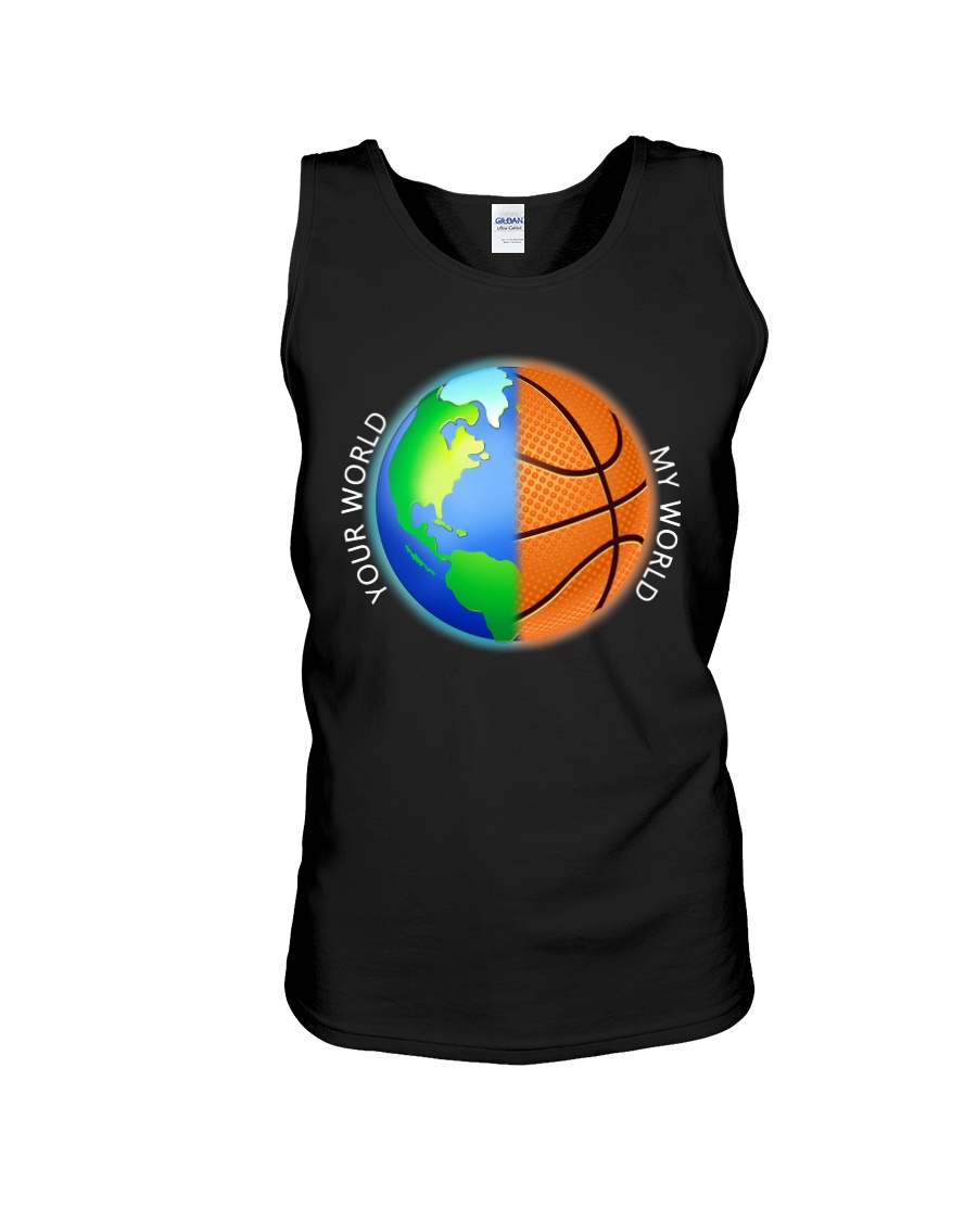 Basketball Your World My World  Unisex Tank