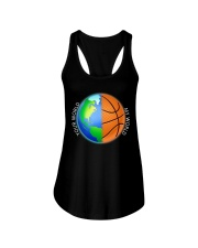 Basketball Your World My World  Ladies Flowy Tank thumbnail
