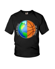 Basketball Your World My World  Youth T-Shirt thumbnail