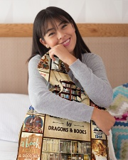 """Books Funny Blanket And Dragons Graphic Design Small Fleece Blanket - 30"""" x 40"""" aos-coral-fleece-blanket-30x40-lifestyle-detail-front-13"""