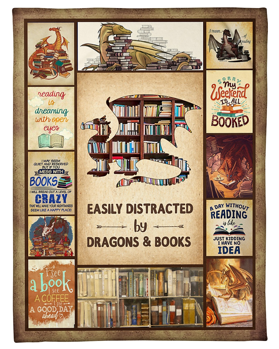 """Books Funny Blanket And Dragons Graphic Design Small Fleece Blanket - 30"""" x 40"""""""
