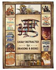 """Books Funny Blanket And Dragons Graphic Design Small Fleece Blanket - 30"""" x 40"""" front"""