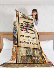 """Books Funny Blanket And Dragons Graphic Design Large Fleece Blanket - 60"""" x 80"""" aos-coral-fleece-blanket-60x80-lifestyle-front-11"""