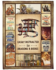 """Books Funny Blanket And Dragons Graphic Design Large Fleece Blanket - 60"""" x 80"""" front"""