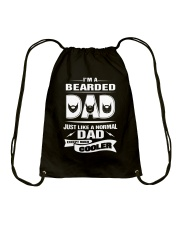 I'm a bearded dad Drawstring Bag thumbnail
