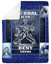 """Hockey Biggest Fan Large Sherpa Fleece Blanket - 60"""" x 80"""" front"""