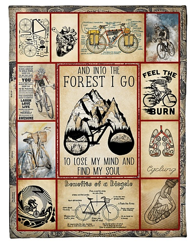 Cycling Funny And Into The Forest Graphic Design
