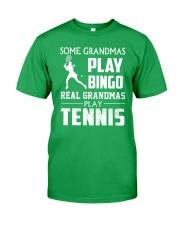 Real Grandmas Play Tennis Classic T-Shirt front