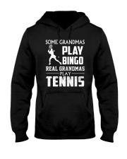 Real Grandmas Play Tennis Hooded Sweatshirt thumbnail