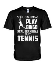 Real Grandmas Play Tennis V-Neck T-Shirt thumbnail