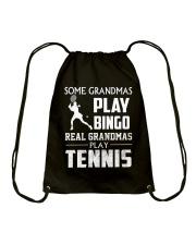 Real Grandmas Play Tennis Drawstring Bag thumbnail