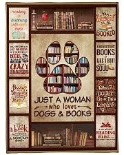 """Book Just A Woman Who Loves Dogs Graphic Design Large Fleece Blanket - 60"""" x 80"""" front"""