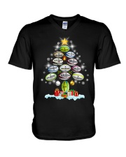 Hair Tree Noel Rugby  V-Neck T-Shirt thumbnail