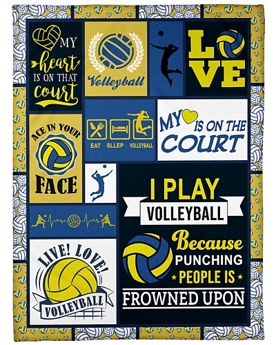Volleyball Funny My Heart Is On Graphic Design
