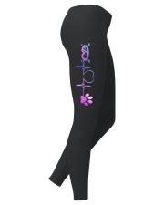 Skiing Dog Heartbeat Ladies Leggings thumbnail