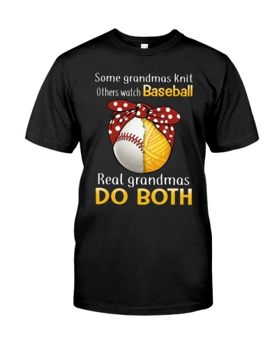 Baseball Real Grandmas Do Both