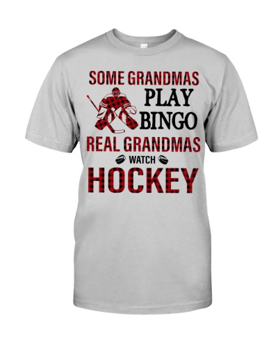 Hockey Some Grandmas Play Bingo