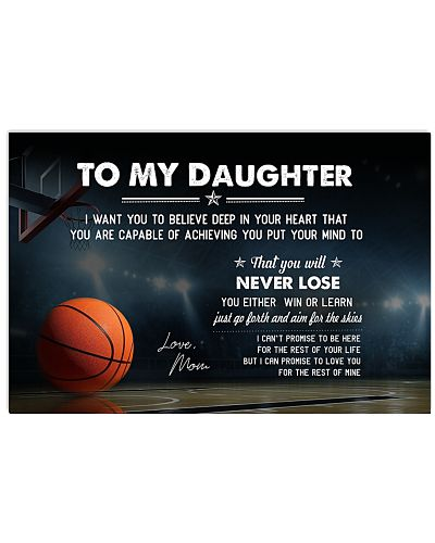 Basketball Daughter-Mom I Want You Believe Poster