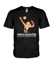 Mom And Daughter Volleyball Players For Life V-Neck T-Shirt thumbnail