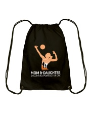 Mom And Daughter Volleyball Players For Life Drawstring Bag thumbnail