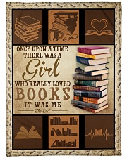 """Books Once Upon A Time Large Fleece Blanket - 60"""" x 80"""" thumbnail"""