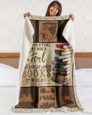 """Books Once Upon A Time Large Sherpa Fleece Blanket - 60"""" x 80"""" aos-sherpa-fleece-blanket-60x80-lifestyle-front-16"""