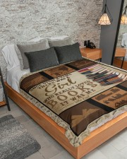 """Books Once Upon A Time Large Sherpa Fleece Blanket - 60"""" x 80"""" aos-sherpa-fleece-blanket-lifestyle-front-04"""