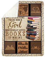 """Books Once Upon A Time Large Sherpa Fleece Blanket - 60"""" x 80"""" front"""