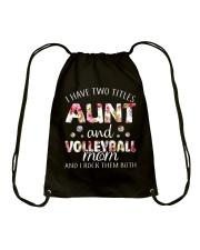 I Have Two Tittles Volleyball Drawstring Bag thumbnail
