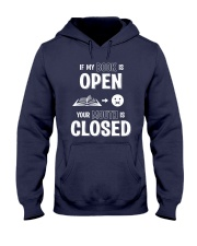 IF MY BOOK IS OPEN YOUR MOUTH IS CLOSED Hooded Sweatshirt thumbnail