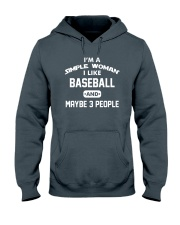 Baseball - I'm A Simple Woman Hooded Sweatshirt front