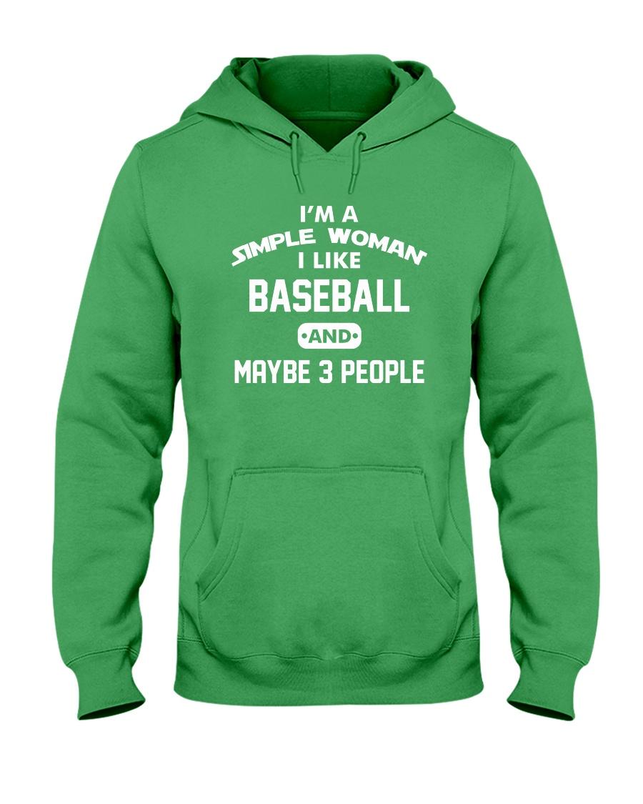 Baseball - I'm A Simple Woman Hooded Sweatshirt