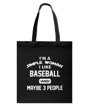 Baseball - I'm A Simple Woman Tote Bag thumbnail