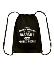 Baseball - I'm A Simple Woman Drawstring Bag thumbnail