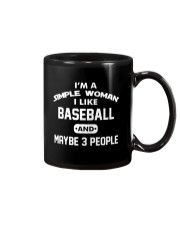 Baseball - I'm A Simple Woman Mug thumbnail