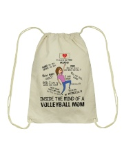 Inside The Mind Of A Volleyball Mom Drawstring Bag thumbnail