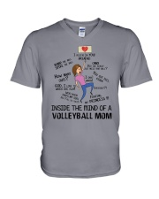 Inside The Mind Of A Volleyball Mom V-Neck T-Shirt thumbnail