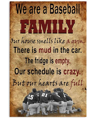 We Are A Baseball Family