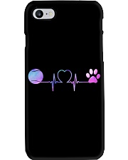 Tennis Dog Heartbeat Phone Case tile