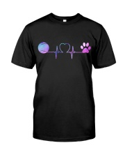 Tennis Dog Heartbeat Classic T-Shirt thumbnail
