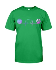 Tennis Dog Heartbeat Classic T-Shirt front