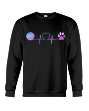 Tennis Dog Heartbeat Crewneck Sweatshirt thumbnail