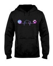 Tennis Dog Heartbeat Hooded Sweatshirt tile