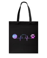 Tennis Dog Heartbeat Tote Bag thumbnail