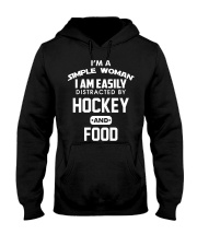 Hockey and Food Hooded Sweatshirt thumbnail