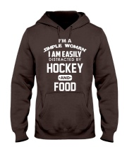 Hockey and Food Hooded Sweatshirt front