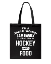Hockey and Food Tote Bag thumbnail