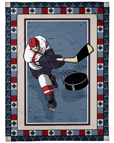 Hockey Funny Blanket Sport Graphic Design