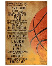 Basketball Today Is A Good Day 11x17 Poster front