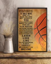 Basketball Today Is A Good Day 11x17 Poster lifestyle-poster-3